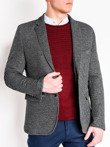 Men's elegant blazer jacket M83 - black