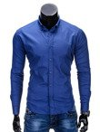 Men's elegant shirt with long sleeves K219 - navy