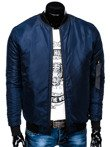 Men's mid-season bomber jacket C336 - navy