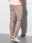 Men's pants joggers P886 - beige