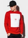 Men's printed sweatshirt B1045 - red