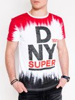 Men's printed t-shirt S1059 - white/red