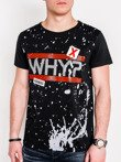 Men's printed t-shirt S1087 - black