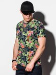 Men's printed t-shirt S1289 - black