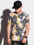 Men's printed t-shirt S1295 - white
