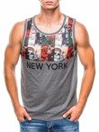 Men's printed tank top S782 - dark grey