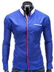 Men's shirt K227 - blue