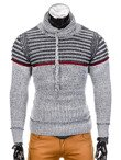 Men's sweater E101 - grey