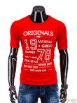 Men's t-shirt S593 - red