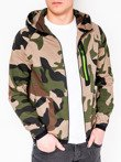 Men's zip-up hoodie B733 - green/camo