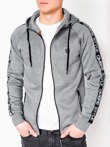 Men's zip-up hoodie B741 - grey