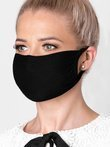 Women's mask with a filter pocket A262 - black (4 pcs.)