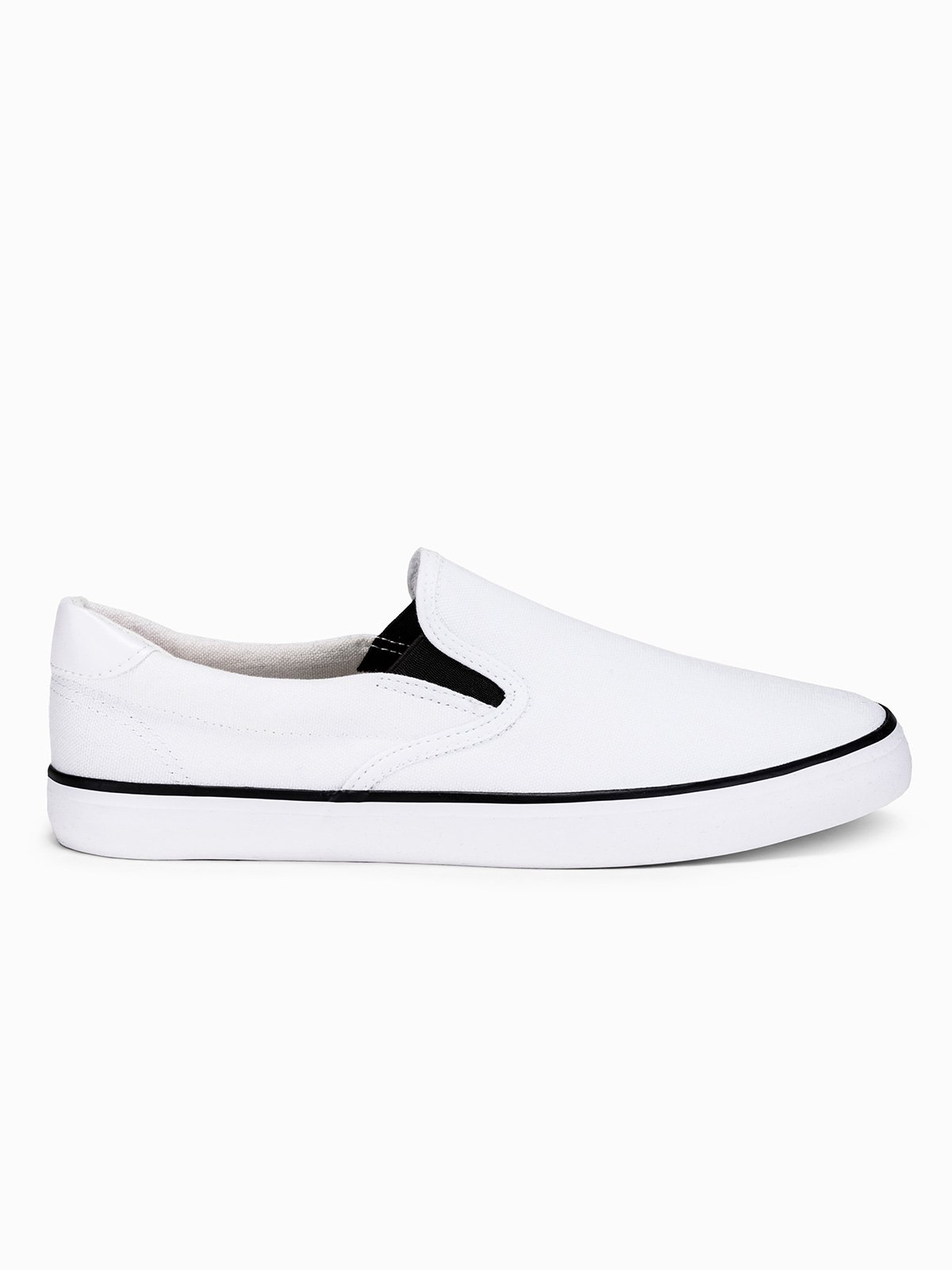 Buty męskie slip on T301 białe | MODONE wholesale