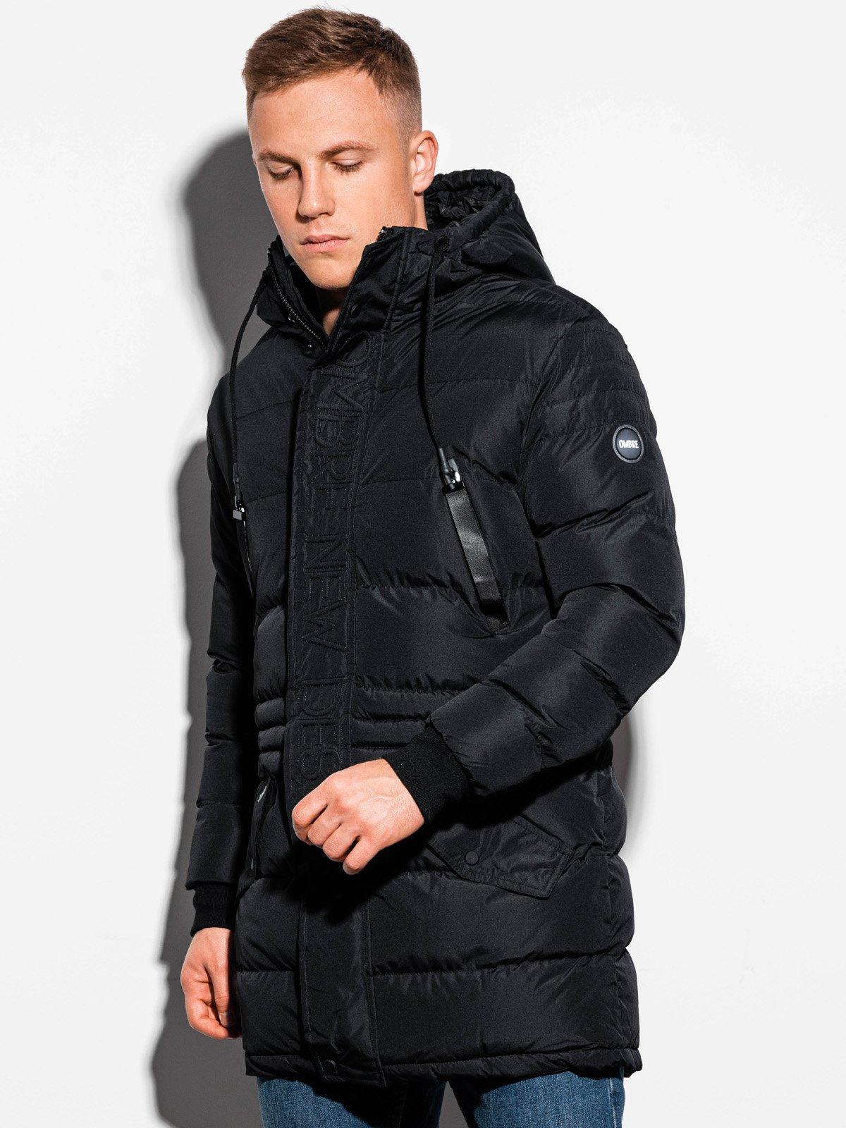 Kurtka męska zimowa C411 czarna | MODONE wholesale