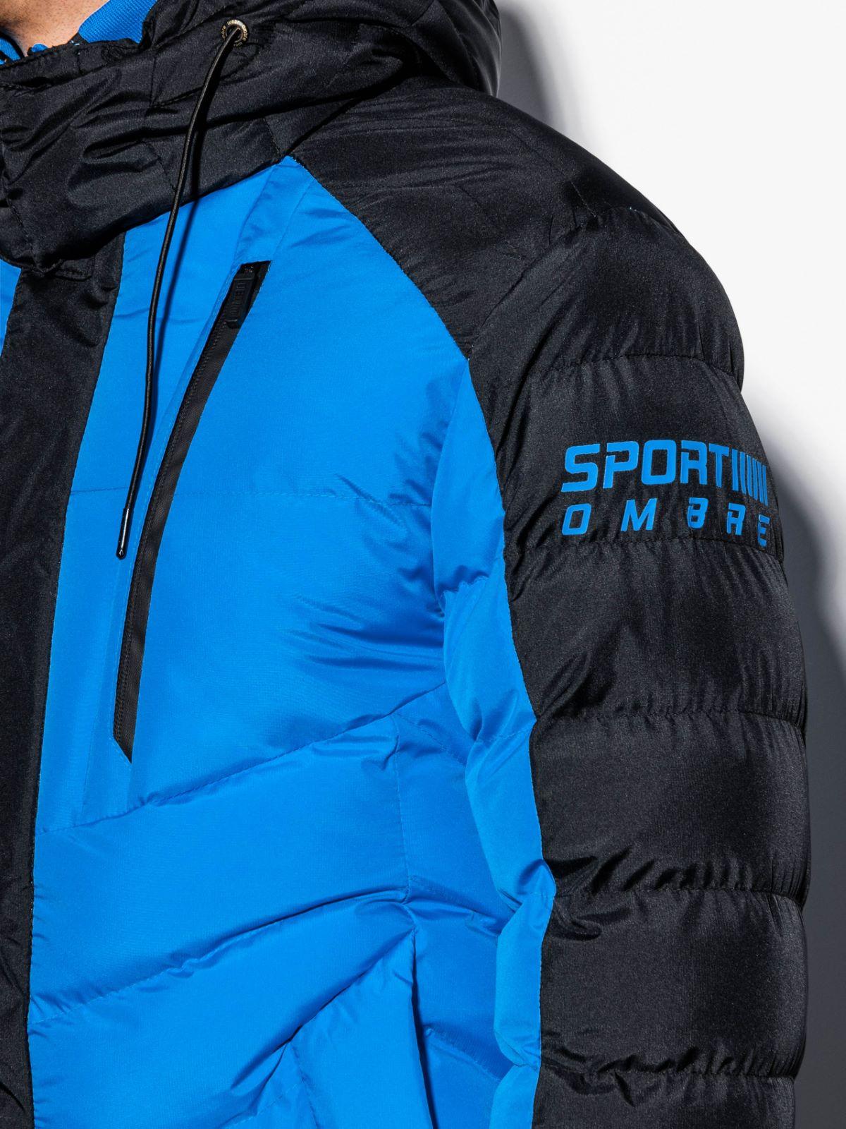 Kurtka męska zimowa pikowana C417 niebieska | MODONE