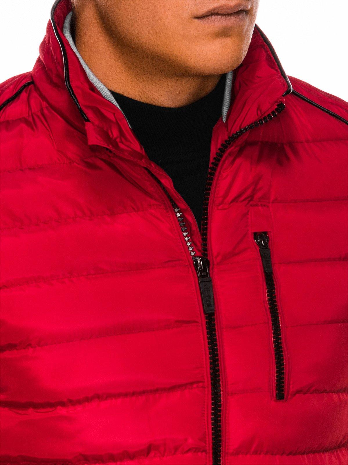 Ombre Kurtka męska zimowa C422 czerwona